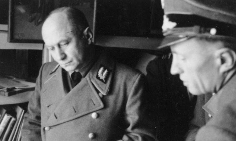 Вильгельм Кубе и Эрнст Розенберг. Минск. 1942 г.