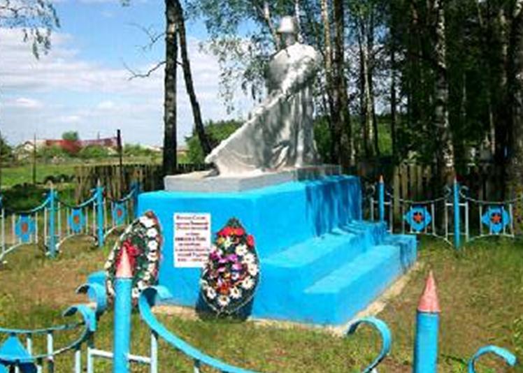 д. Новые Максимовичи Кличевского р-на. Памятник установлен в 1964 году на братской могиле, в которой похоронено 23 советских воина, в т.ч. 19 неизвестных, погибших в годы войны.