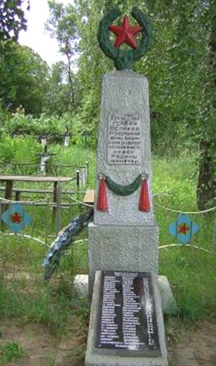 д. Октябрьск Кличевского р-на. Памятник установлен в 1957 году на братской могиле, в которой похоронено 42 советских воинов и партизан, погибших в 1944 году.