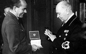 Генрих Дорпмюллер и Альбенрт Шпеер. 1944 г.