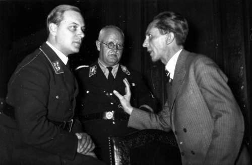 Франц Шварц и Йозеф Геббельс 1934 г.