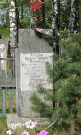 д. Высокое Чаусского р-на. Братская могила на сельском кладбище, в которой похоронено 9 воинов.