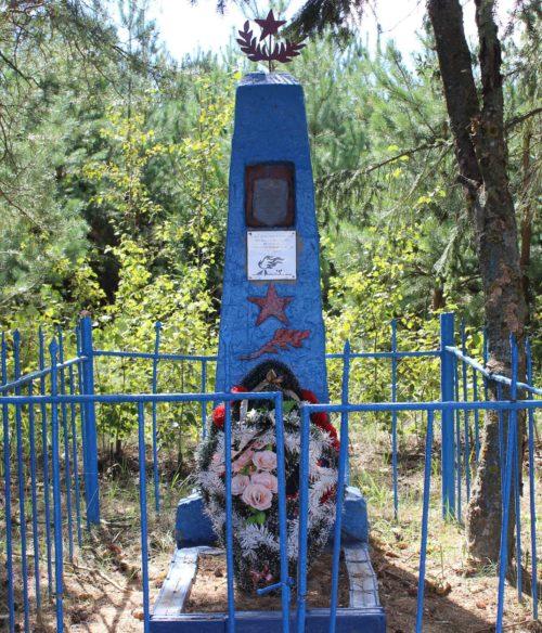 д. Устье Чериковского р-на. Памятник на братской могиле советских воинов, погибших в годы войны.