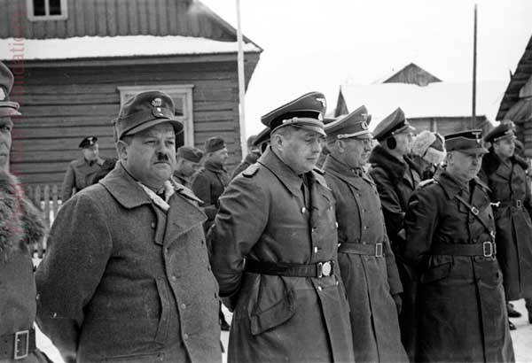 Вильгельм Кубе и Карл Ценнер. Белоруссия. 1943 г.