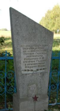 д. Гиревцы Чаусского р-на. Братская могила на окраине села.