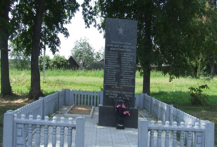 д. Семукачи Могилевского р-на. Братская могила, в которой похоронено 38 воинов.