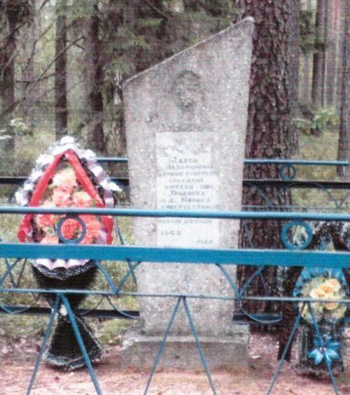 д. Гродзянка Осиповичского р-на. Памятник установлен в 1980 году на братской могиле, в которой похоронено 11 неизвестных воинов, погибших в 1943 году.
