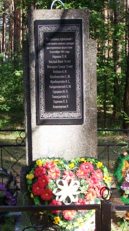 д. Дараганово Осиповичского р-на. Памятник установлен в 1976 году на братской могиле, в которой похоронено 11 советских воина, погибших в сентябре 1941 года.