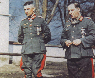 Брейт Герман и Вальтер Модель. Восточный фронт. 1943 г.