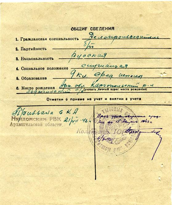 Временное удостоверение взамен военного билета.