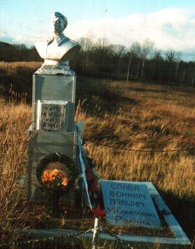 п. Елизово Осиповичского р-на. Памятник на восточной окраине деревни был установлен в 1967 году на братской могиле, в которой похоронено 100 неизвестных воинов, погибших в годы войны.