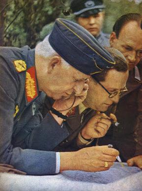 Брейт Герман и Эрих Манштейн. Восточный фронт. 1943 г.