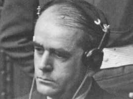 Альберт Шпеер на Нюрнбергском процессе. 1946 г.