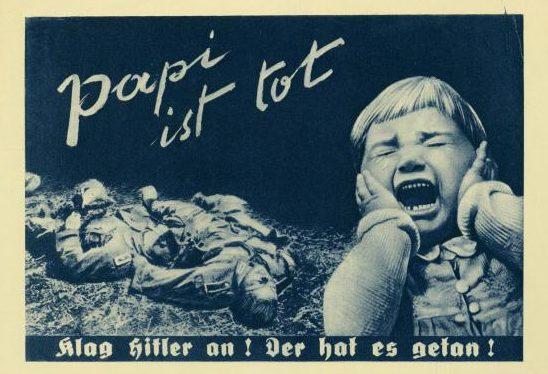 Папа умер. Долой Гитлера! Он виноват в этом.