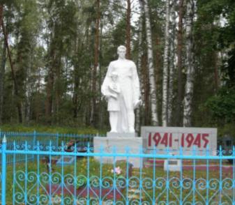 д. Долгий Мох Чаусского р-на. Братская могила на сельском кладбище, в которой похоронено 207 воинов, погибших в годы войны.
