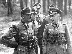 Герберт Гилле с офицерами. 1943 г.