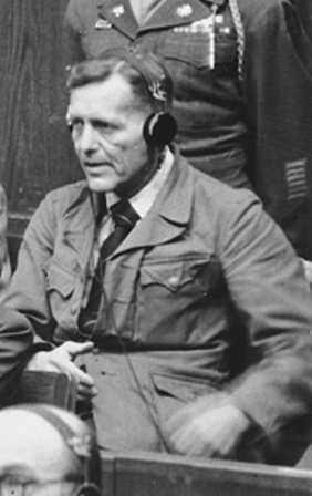 Иоганн Шверин на Нюрнберском процессе. 1947 г.
