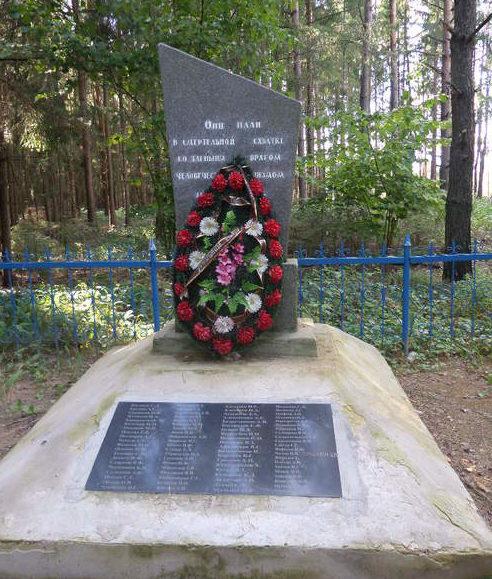 д. Загоренка Чаусского р-на. Братская могила, в которой похоронено 81 воин.