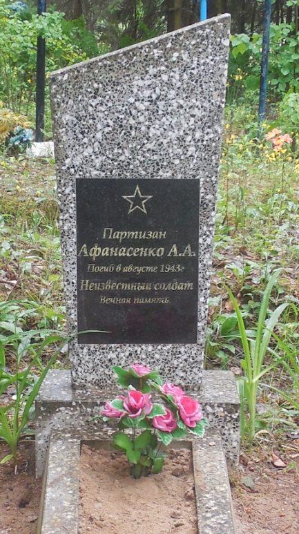 д. Хвощёвка Могилевского р-на. Братская могила на сельском кладбище.