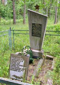 д. Староселье Шкловского р-на. Памятник установлен в 1983 году на месте захоронение 14 партизан и 400 жертв нацизма, погибших в годы войны.