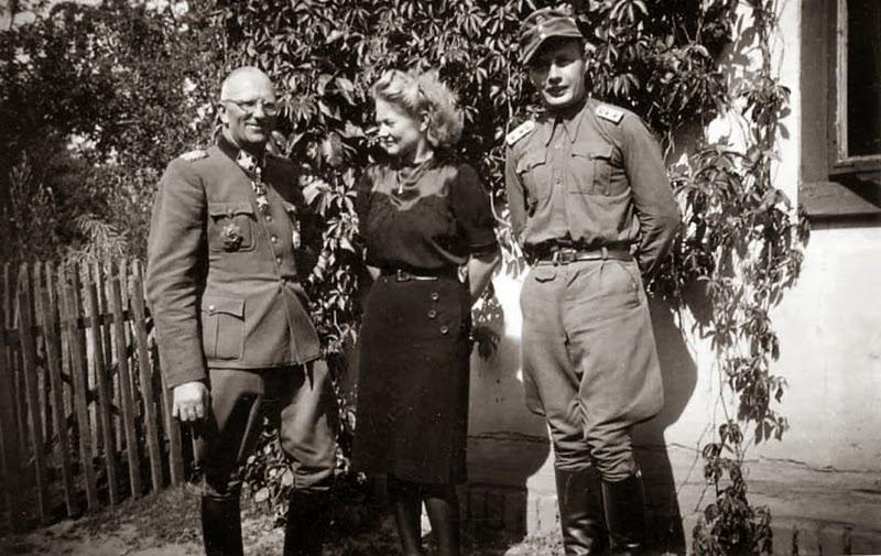 Герберт Гилле, Манфред Скнфелдер и его жена. 1944 г.