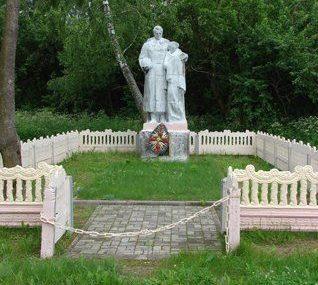 д. Копани Чаусского р-на. Братская могила, в которой похоронено 15 воинов, в т.ч. 13 неизвестных.