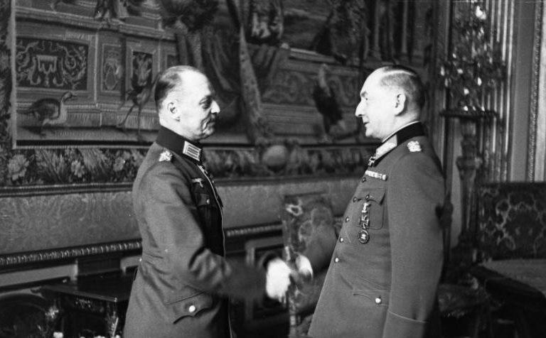 Эрвин фон Вицлебен и Герд фон Рунштедт. 1941 г.