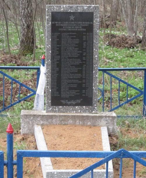 д. Березяки-2 Краснопольского р-на. Памятник, установленный на братской могиле, в которой похоронено 42 советских воина, в т.ч. 1 неизвестный, погибших в 1943 году.