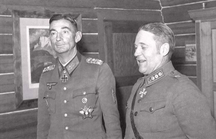 Эдуард Дитль и Оива Иоганн Вилламо. 1943 г.