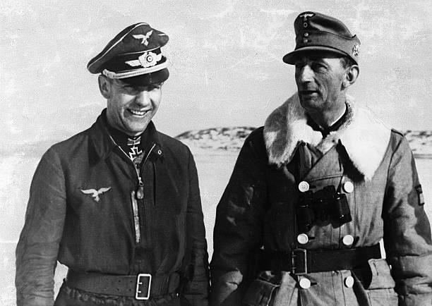 Эдуард Дитль и Карл Уэйзенбергер. Финляндия. 1943 г.