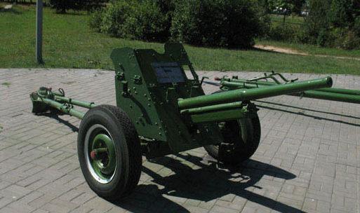 45-мм противотанковая пушка.