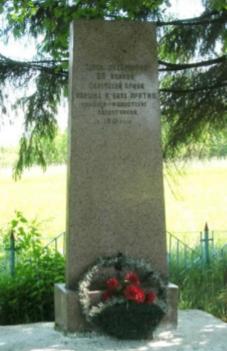 д. Мошок Чаусского р-на. Братская могила, в которой захоронено 96 воинов.