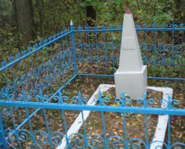 д. Островы Чаусского р-на. Братская могила на сельском кладбище.