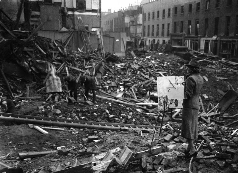Художник Этель Габейн, назначенная правительством для фиксации событий войны. 28 ноября 1940 г.