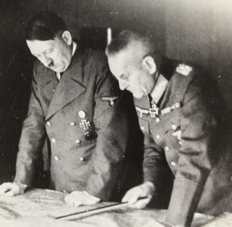 Франц Гальдер и Адольф Гитлер. 1941 г.