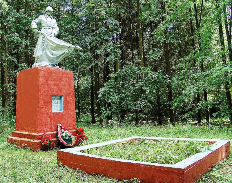 д. Тушевая Горецкого р-на. Памятник в лесу около деревни, установленный на братской могиле, в которой похоронено 34 неизвестных советских воинов.