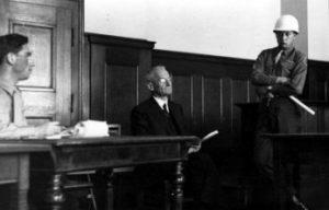 Франц Гальдер на Нюрнбергском процессе. 1945 г.