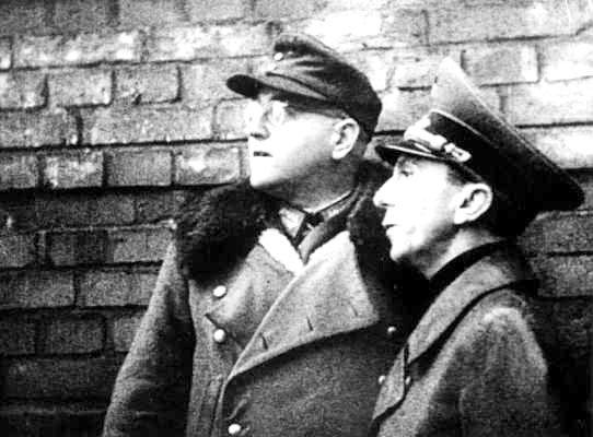 Теодор Буссе во время боев за Берлин. 1945 г.