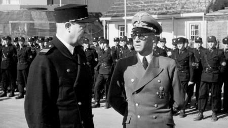 Эдуард Дитль и Йозеф Тербовен на параде. Осло. 1944 г.