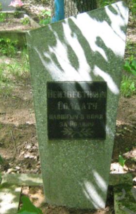 д. Путьки Чаусского р-на. Братская могила, в которой захоронено 9 воинов.