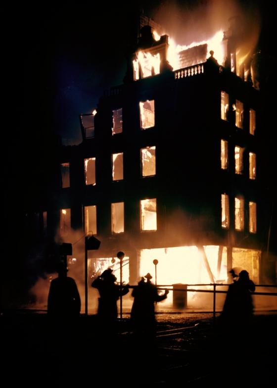 Пожар среди ночи. 29 декабря, 1940 г.
