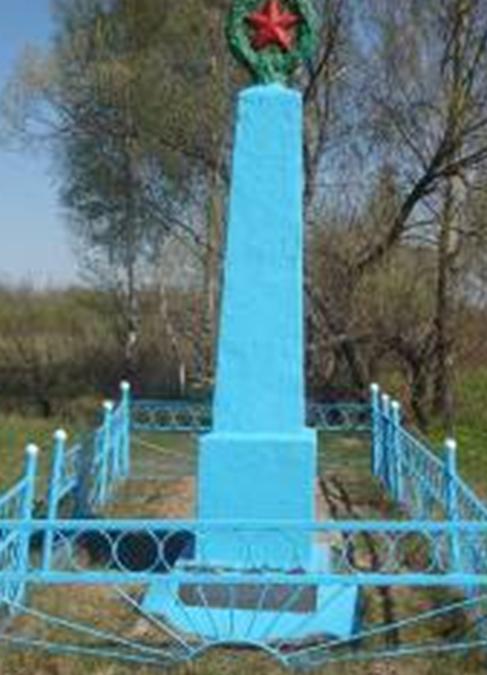 п. Краснополье. Памятник, установленный на братской могиле, в которой похоронено 259 советских воинов, погибших в 1941 году.