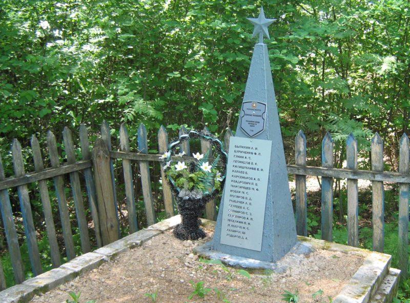 д. Зальково Дрибинского р-на. Памятник установлен на братской могиле, в которой похоронено 19 советских воинов, погибших в годы войны.