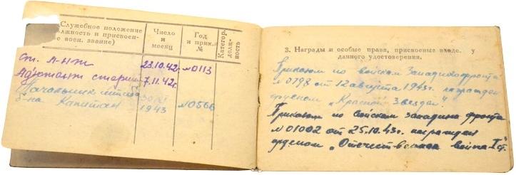 Удостоверение личности командного состава РККА.