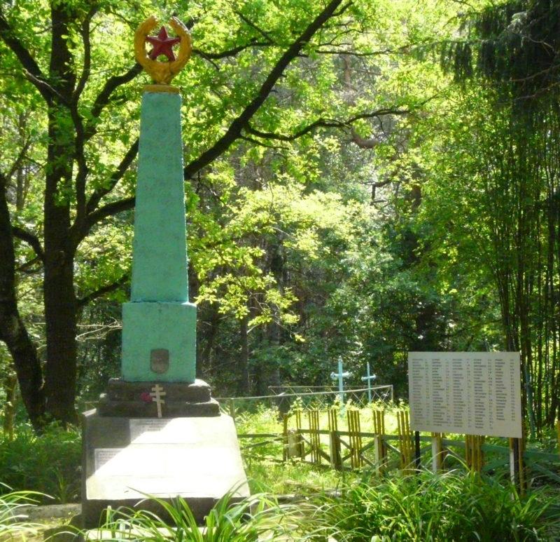 д. Каребы Дрибинского р-на. Памятник установлен на братской могиле, в которой похоронено 112 советских воинов, погибших в годы войны.