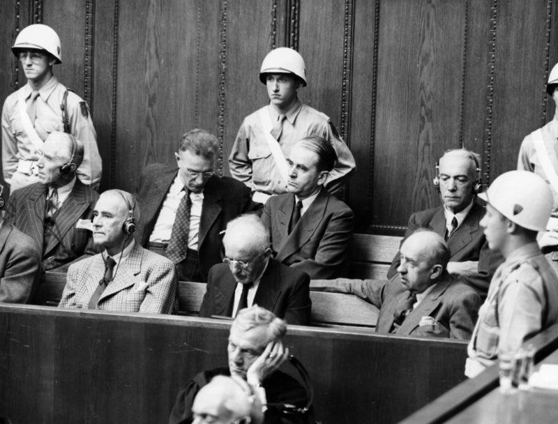 Вальтер Функ на Нюрнберском процессе.1 945 г.