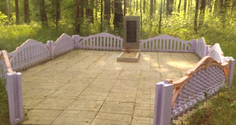 д. Марьина Буда Краснопольского р-на. Памятник, установленный на братской могиле, в которой похоронено 3 советских воина, погибших в годы войны.