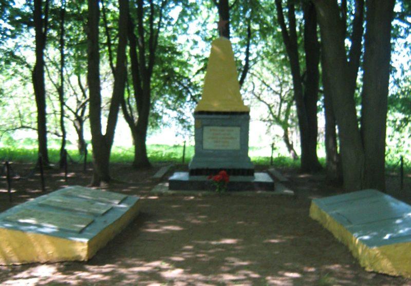 д. Кричеватка Дрибинского р-на. Памятник был установлен в 1948 году на братских могилах, в которых захоронено 124 воинов 49-й, 64-й, 200-й, 369-й стрелковых дивизий, в т.ч. 6 неизвестных, которые погибли в боях против немецко-фашистских захватчиков в 1943-1944 годах.