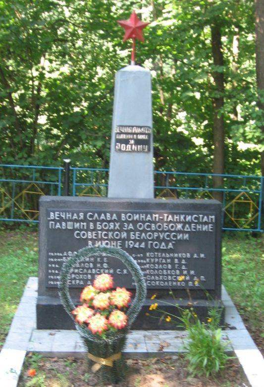 п. Сосновый Осиповичского р-на. Памятник на окраине поселка, установленный в 1968 году на братской могиле, в которой похоронено 12 советских воинов, погибших в 1944 году.