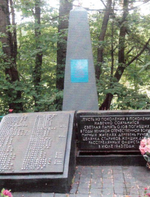 п. Сосновый Осиповичского р-на. Памятник на окраине поселка, установленный в 1976 году на братской могиле, в которой похоронено 108 советских воинов, в т.ч. 45 неизвестных, погибших в 1943 году.